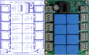 DccDecoder8x (Schaltdecoder mit 8 potentialfreien Wechselkontakten)