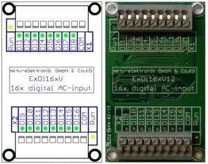 ExDi16 (Erweiterung 2×8 digitale Eingänge)