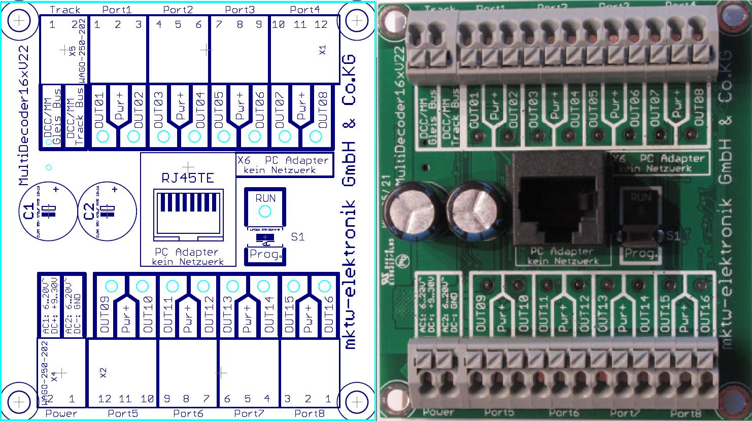 Multidecoder16x Signal- Lichtdecoder